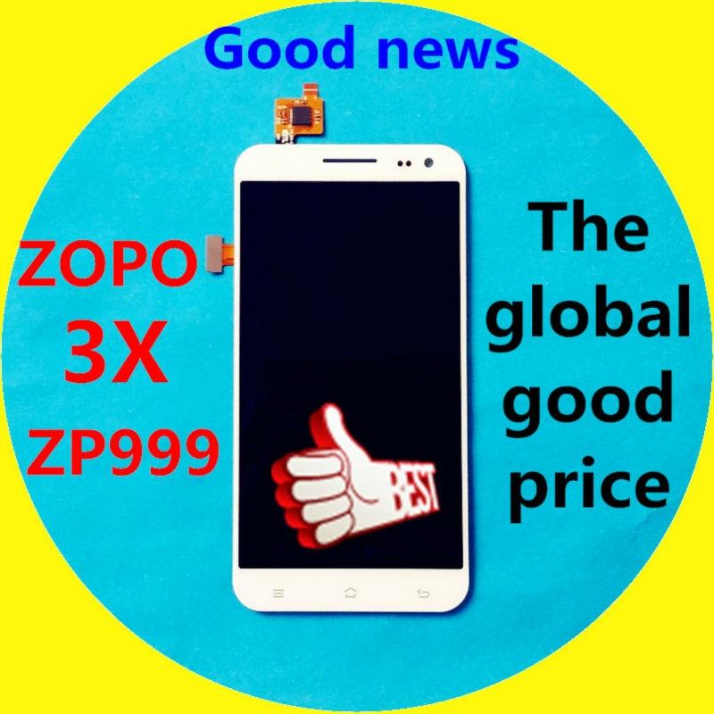 """imágenes para En la Acción!!! Pantalla LCD + Pantalla Táctil Digitalizador Asamblea de Cristal Para 3X ZOPO ZP999 1920*1080 Teléfono Celular de 5.5 """"blanco Color"""