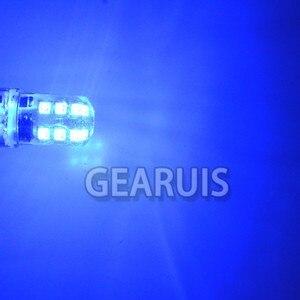 Image 5 - 10 adet 1157 BAY15D Strobe flaş yanıp sönen 12 SMD 2835 LED silikon P21/5W ters işıklar fren lambası park lambası 12V beyaz kırmızı mavi