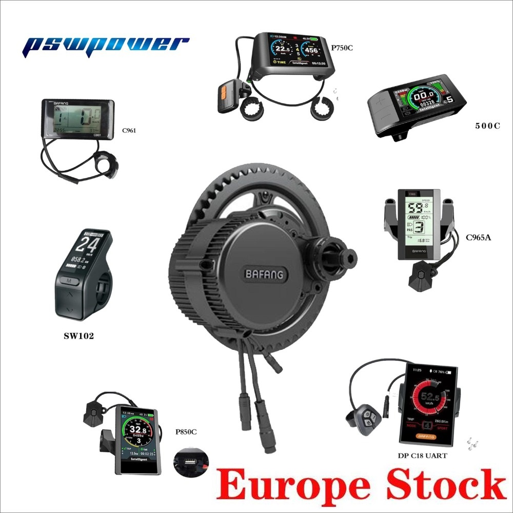 Europe or china stock 48V 500W 18A Bafang 8fun BBS02B mid drive motor Bicycle Electric Bike