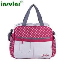 Élégant dot impression diaper sacs D'épaule de Messager multifonctionnel maman big poussette sac de maternité sac à main nappy bébé sacs