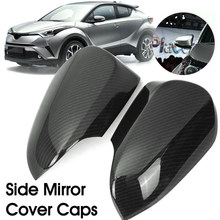 high quality ABS 1Pair Carbon Fiber Style Rear View Mirror Cover Cap For Toyota CHR C-HR 2016-18(China)