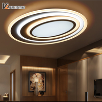 LED Modern Ceiling Lights With Dimming Remote Control For Bedroom Living Room Bar Coffee House New
