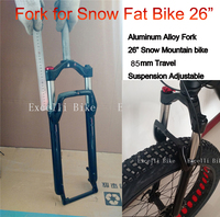 Excelli Bike Fork Locking Oil Suspension Aluminium Alloy For 4.0 Fat Snow Mountain Bike26 Forks Fat Bicicleta Fork Travel 85mm