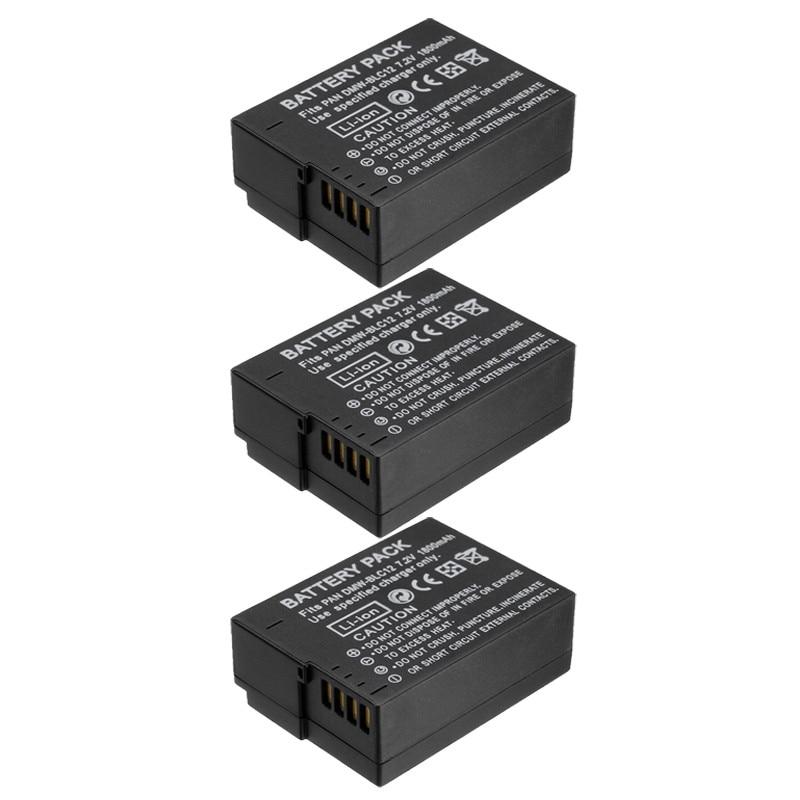 3x DMW-BLC12 BLC12PP BLC12E DMW BLC12 ВР DC12 DC12U BP-DC12 Аккумулятор для Panasonic DMC G6 G5 GH2 GH2 V-LUX4, DMC-GX8 FZ1000