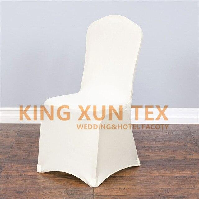 White Ivory Black Spandex Chair Cover