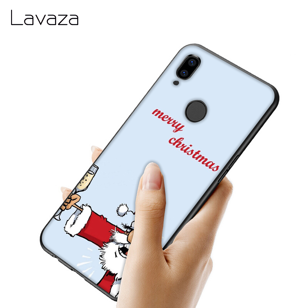 Lavaza Merry Christmas Santa Claus deer Soft Silicone Case TPU Cover for Huawei Mate 10 20 P9 P10 P20 Lite Pro P Smart 2019 in Fitted Cases from Cellphones Telecommunications
