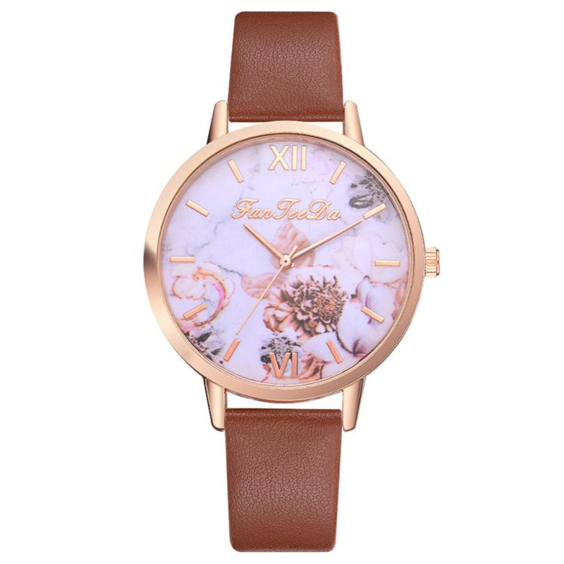 Vintage Flowers Series Women Watches Floral Print Roman Numbers Ladies Dress Watches Leather Band Analog Quartz Wristwatch ClockVintage Flowers Series Women Watches Floral Print Roman Numbers Ladies Dress Watches Leather Band Analog Quartz Wristwatch Clock