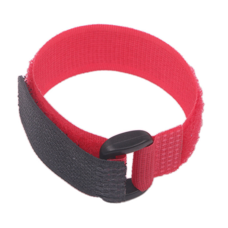 Mayitr 20Pcs 20cm Red Self Adhesive Nylon Fastener Strap Reusable Hook Loop Cable Ties Cord Organizer