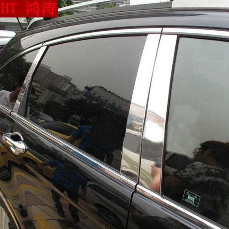 Pour Honda CRV CR-V 2007 2008 2009 2010 2011 Accessoires En Acier Inoxydable Fenêtre Versions Centre Piliers B + C Pilier cover Version 6 pcs