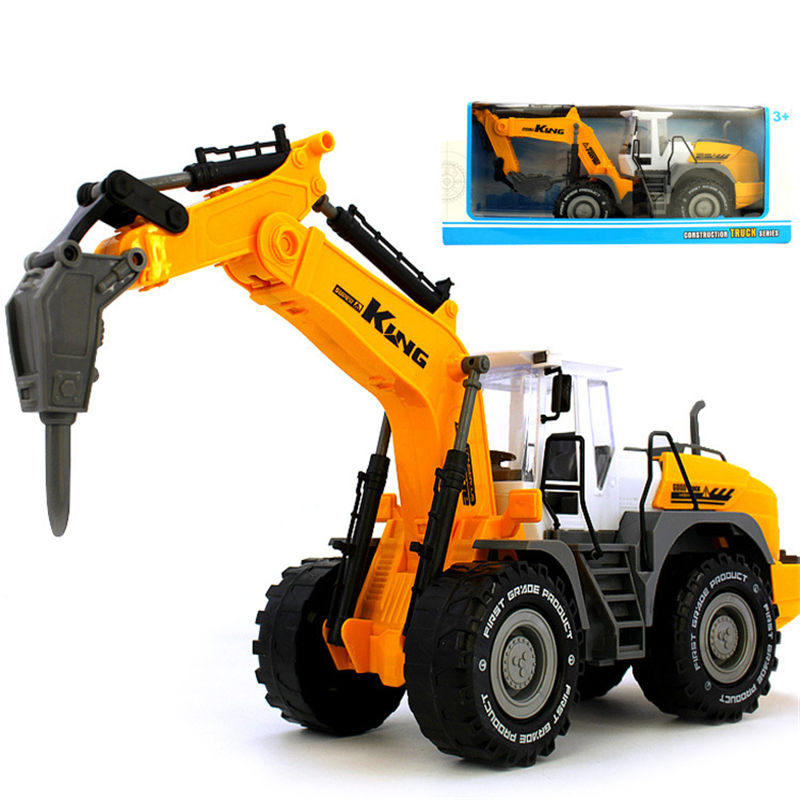 7 Style China Truck High Quality Inertia Model Car Tractor Diecasts Engineering Toy Cehicles Excavator Toy