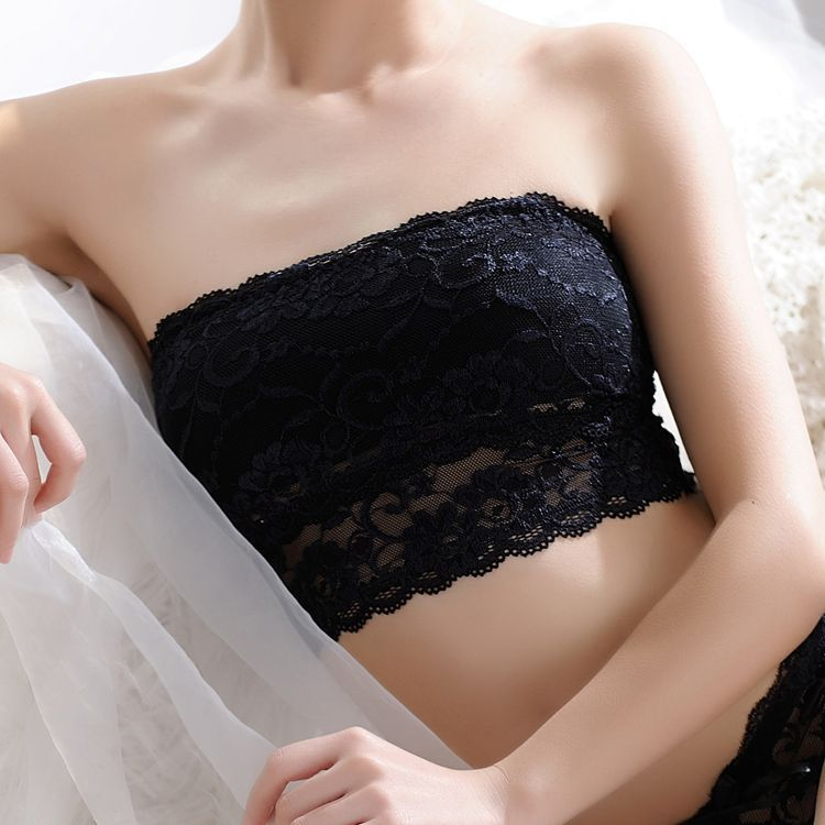 New Girls Soft Bra Women's Sexy Strapless Crop Top Bra Bandeau Boob Tube Tops Lace Casual Crop Boob Tube Top #c0 8