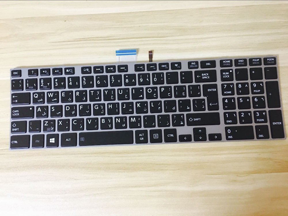 New Laptop keyboard for Toshiba C850 C855 C855D L850 L850D L855 AR/Arabic layout laptop keyboard for acer silver without frame arabic ar v 121646cs2 ar aezqsq00110