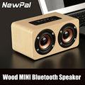 Mais novo de madeira w5 altifalante portátil mini sem fio bluetooth speaker com tf fm aux função handsfree mini speaker subwoofer