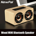 Newest Wooden Bluetooth speaker W5 Portable Mini Wireless Loudspeaker With TF FM AUX Function Handsfree Mini Speaker Subwoofer