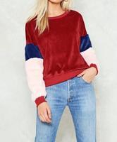 Women Winter Hoodies Pullovers 2017 New Fashion Warm Sweet Coral Velvet Plush Fleece Sweatshirts Tops Long