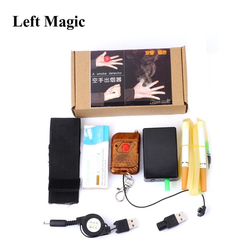 Dispositif de fumée électronique à distance à Double Tube (10 cartouches de fumée) tours de magie la brume accessoires de magie de fumée Ultra automatique