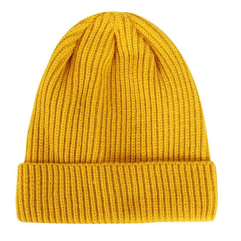Plain Knitted Hat Winter Cap Women's Polyester Soft Unisex Bonnet Hat Female Casual Hip Hop   Skullies     Beanies   Men Autumn   Beanies