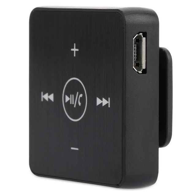 De EB-601 Lavalier Estéreo BT V3.0 Bluetooth Receptor 3.5mm Adaptador Audio Control de Voz Manos Libres Bluetooth para Auriculares con Micrófono