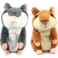 Hot Selling Russian Talking Hamster Wooddy Time Stuffed Animal Toys Speaking Kid Toy Repeat What U