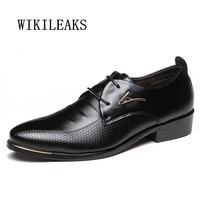 2018 Big Size Men Shoes Leather Business Oxford Shoes For Men Wedding Dress Shoes Zapatos Hombre