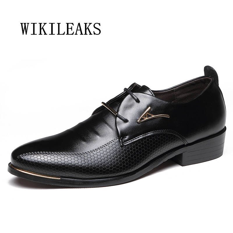 2018 big size men shoes leather business oxford shoes for men wedding dress shoes zapatos hombre casual sapato social masculino