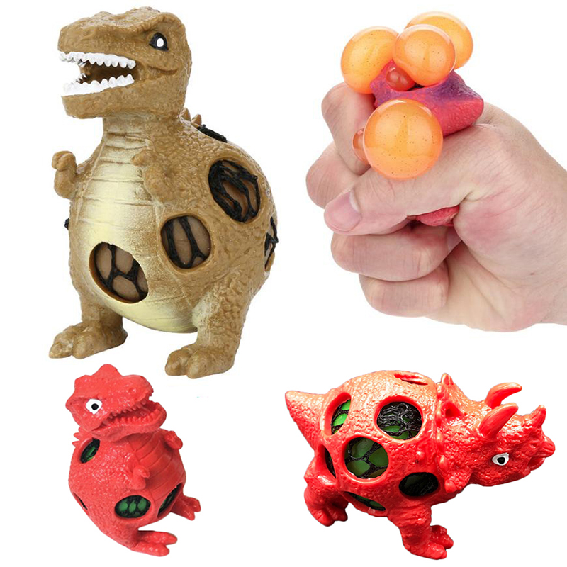 2018 Dinosaur Model Grape Venting Squeeze Balls Pressure Stress Relief Ball Toy Children Sensory TPR Toy For Autism ADHD (B0