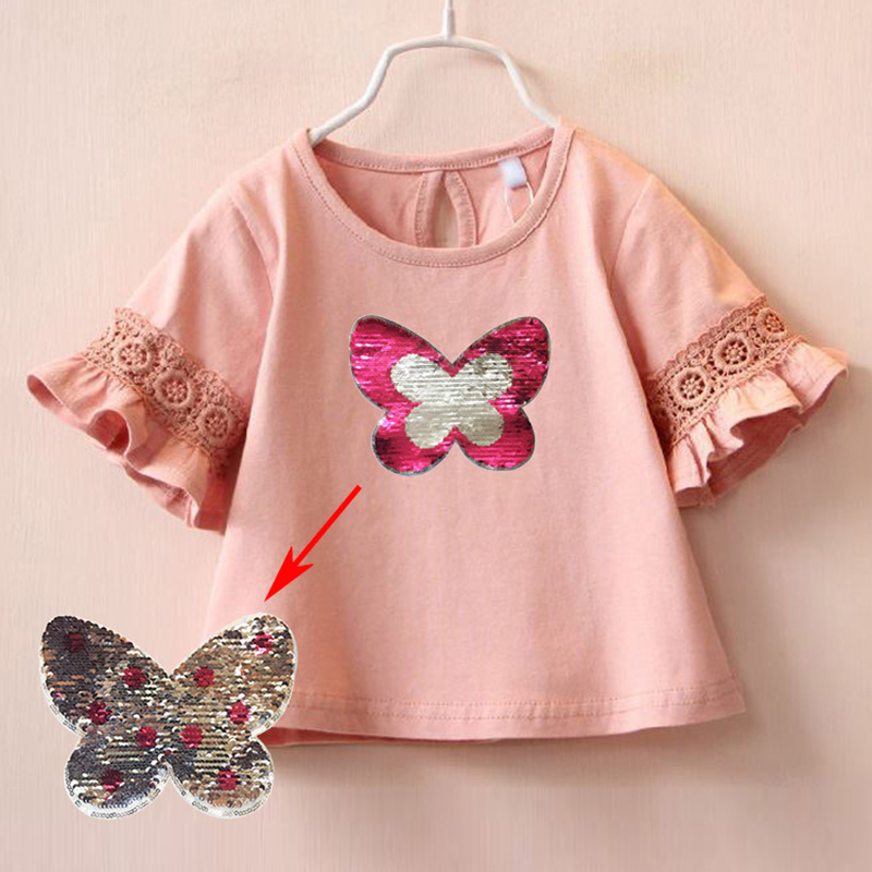 Sparkle Butterfly T-shirt Toddlers Girls Black Size 2T-4T Soft Cotton Material