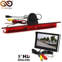 5 Inch TFT Car Monitor With LED Brake Light Camera Reverse Backup Rear View Camera For Benz W906 Sprinter Vito VW Crafter