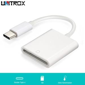 Image 1 - 2019 חדש USB 3.1 סוג C USB C כדי SD SDXC כרטיס מצלמה דיגיטלית קורא מתאם כבל עבור ה macbook טלפון סמסונג Huawei Xiaomi