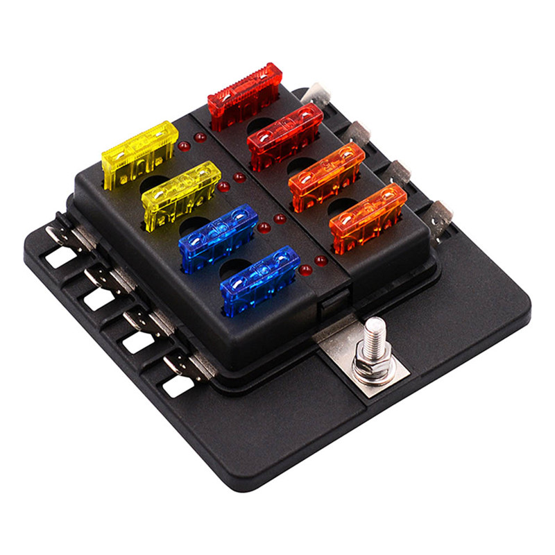 newest 1 in 8 out fuse box holder circuit car blade fuse. Black Bedroom Furniture Sets. Home Design Ideas