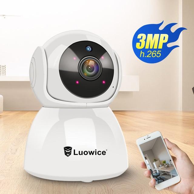 3MP フル hd ホームセキュリティ無線 Lan カメラ H.265 双方向オーディオ CCTV カメラベビーミニター屋内電話リモートコントロール IP カメラ