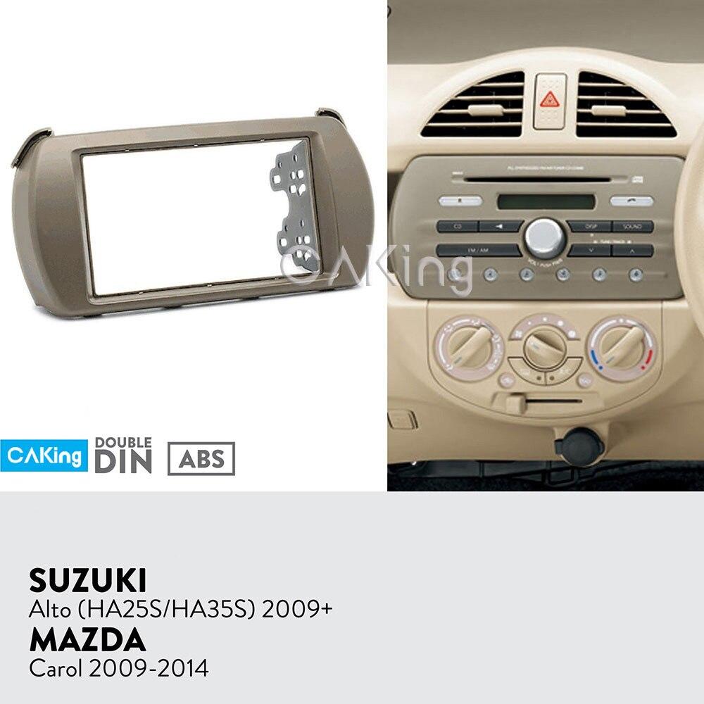 Car Fascia Radio Panel for SUZUKI Alto HA25S HA35S 2009 MAZDA Carol 2009 2014 Dash Kit