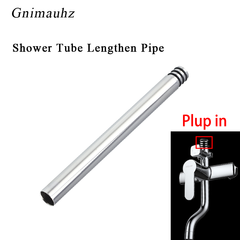 24mm/22mm  20/30/40cm shower extension rod without thread heightening shower tube lengthen Extension pipe24mm/22mm  20/30/40cm shower extension rod without thread heightening shower tube lengthen Extension pipe