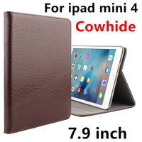 Case Cowhide For iPad mini 4 Genuine Protective Smart cover Leather Tablet For Apple iPad Mini4 7.9 inch Protector Sleeve Covers