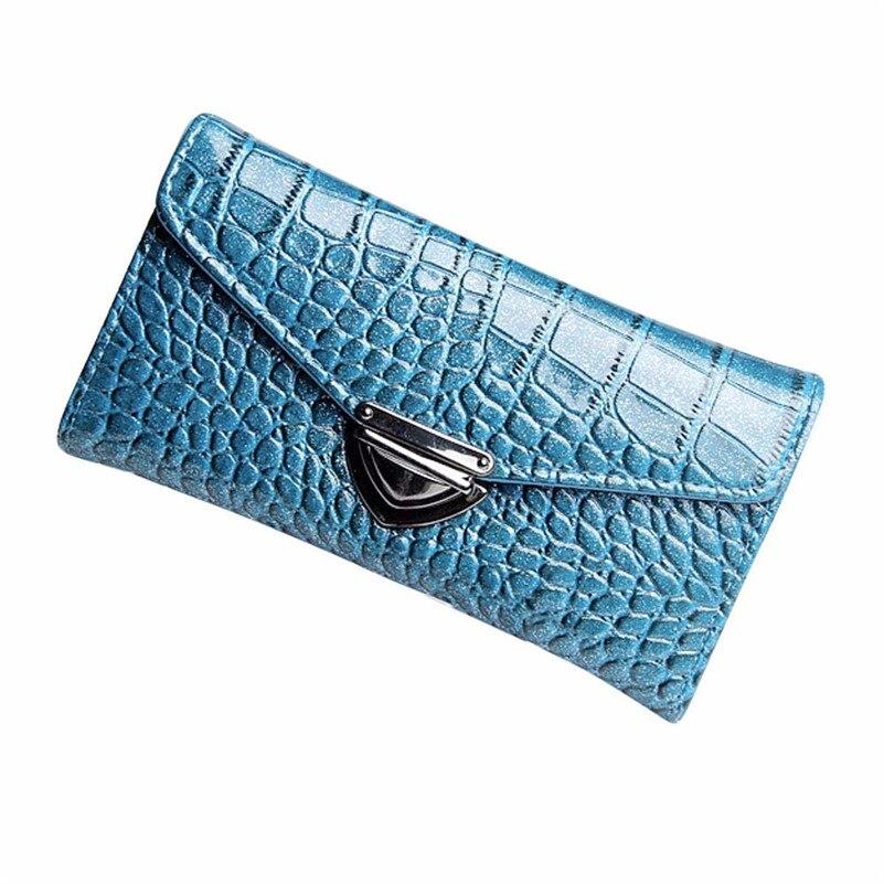 Women Fashion Wallet Lady Crocodile Pattern Long Wallet Handbag Girl Lovely Casual Style Purse 2017 Hot Sale High Quality