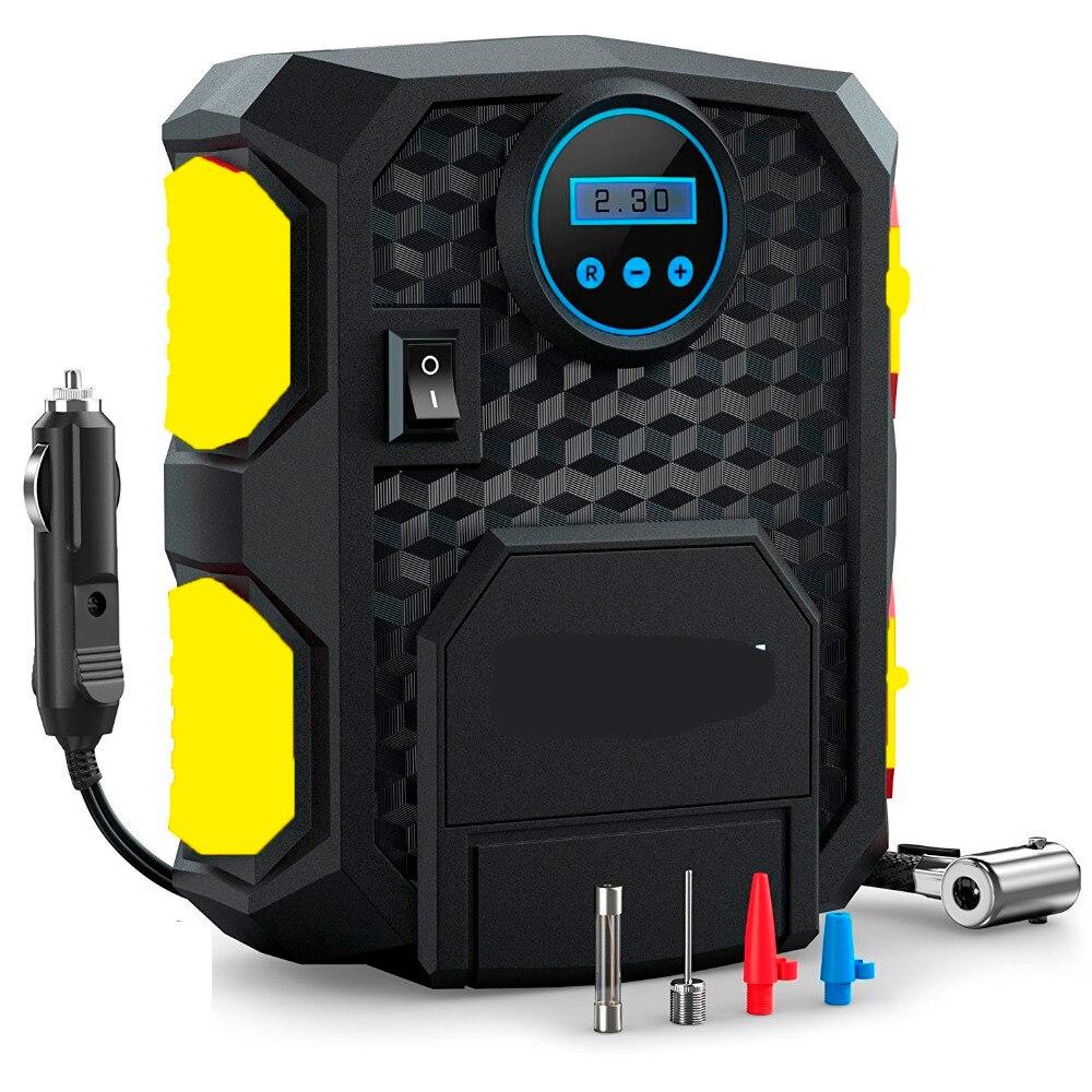 Pre-set Digital Display Auto Auto Reifen Inflator 12 v Elektrische Auto Luft Kompressor Pumpe LED Licht Digital Aufblasbare pumpe