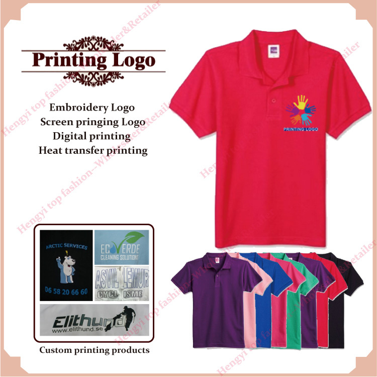 9c50c5c6d Promotion customized print design personalized logo polo shirts women tee  tops shirts 100% cotton casual wear custom clothing-in Polo Shirts from  Women's ...