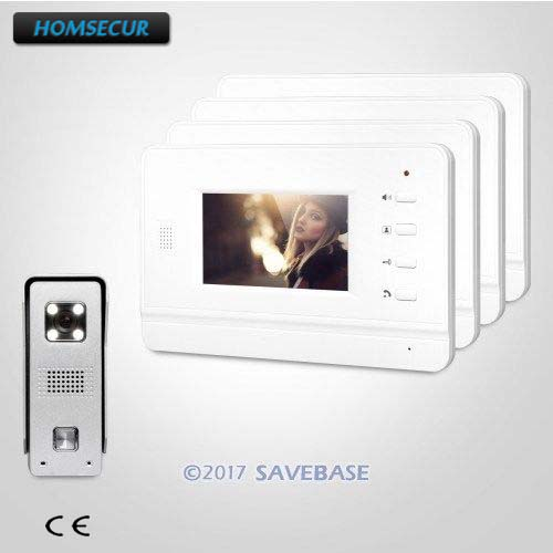 HOMSECUR 4.3 Hand-Free Video Door Entry Phone Call System With Intra-monitor Audio Interaction For Your Home