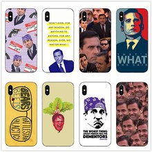Humorous and funny Michael Scott Hard plastic Cover shell For iPhone X10 5 5s Se 6 6sPlus 7 8 Plus  XR XS MAX phone case metallic cd veins plastic hard shell for iphone se 5s 5 silver