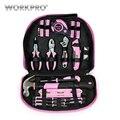 WORKPRO 103PC Hand Tool Set Home Tool Kit Werkzeug Tasche Rosa Werkzeuge für Frauen Mädchen