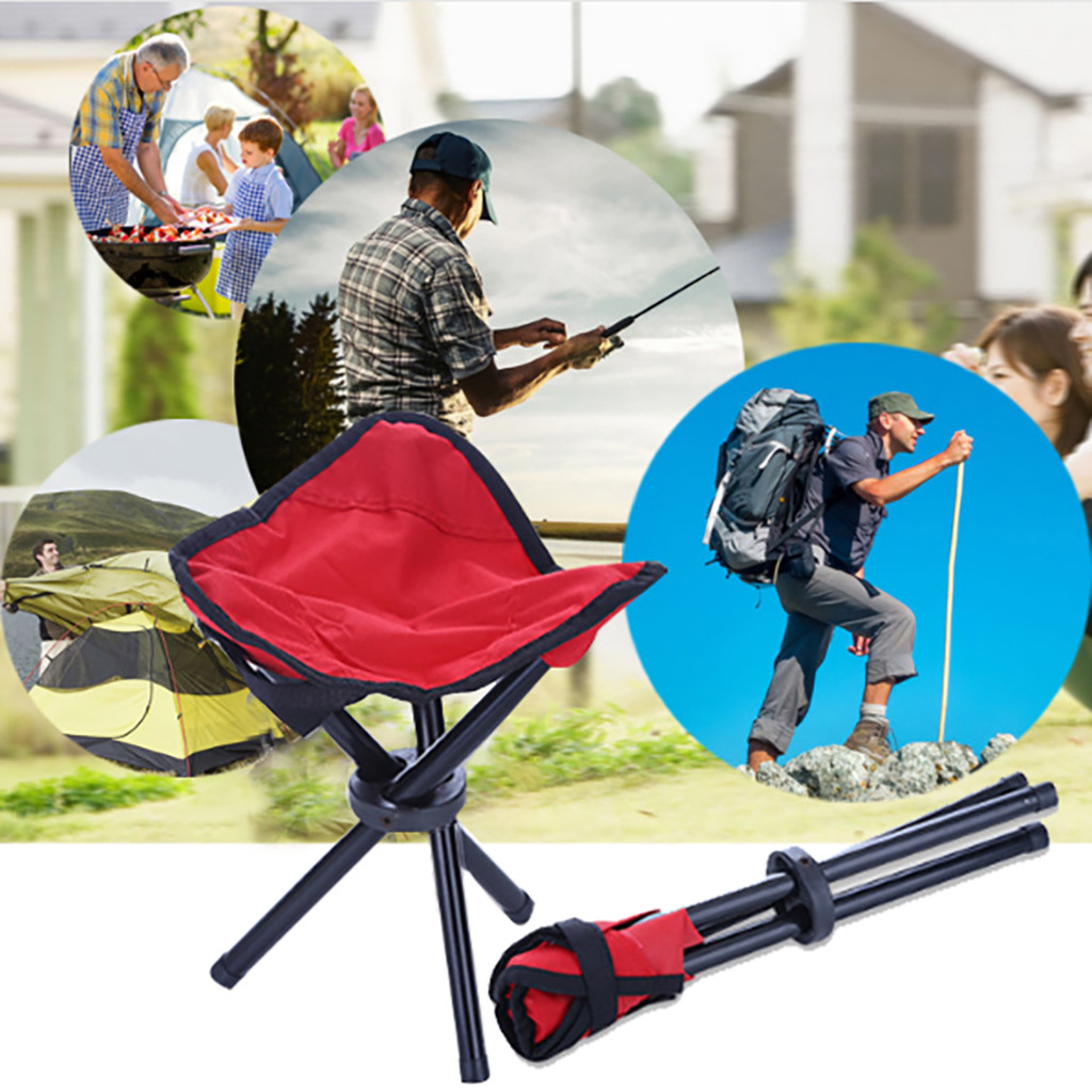 Stupendous Us 3 72 44 Off Portable Triangle Folding Stool For Outdoor Camping Chairs Bbq Stool Fishing Outdoor Lightweight Triangle Folding Stool In Beach Unemploymentrelief Wooden Chair Designs For Living Room Unemploymentrelieforg