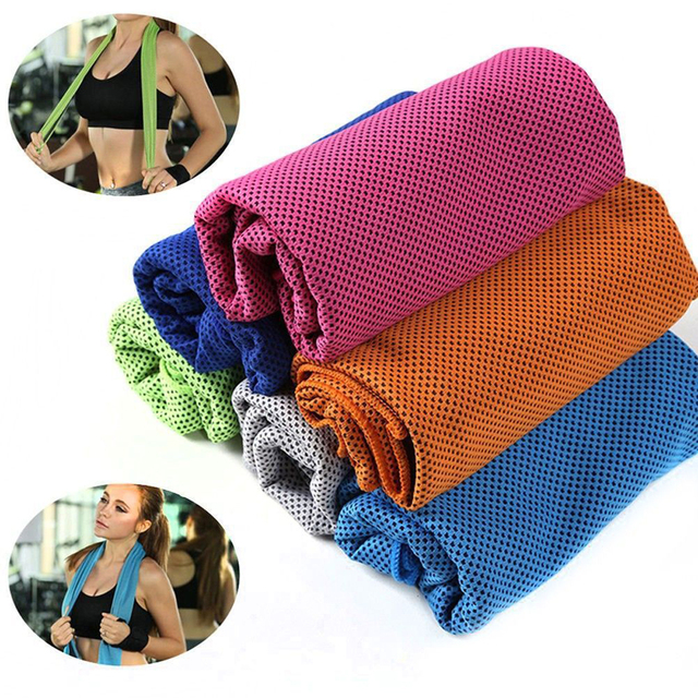 Sports Ice Towel Gym Jogging Reusable Enduring Running Instant Ice Cold Chilly Pad Cooling Sweat Tool
