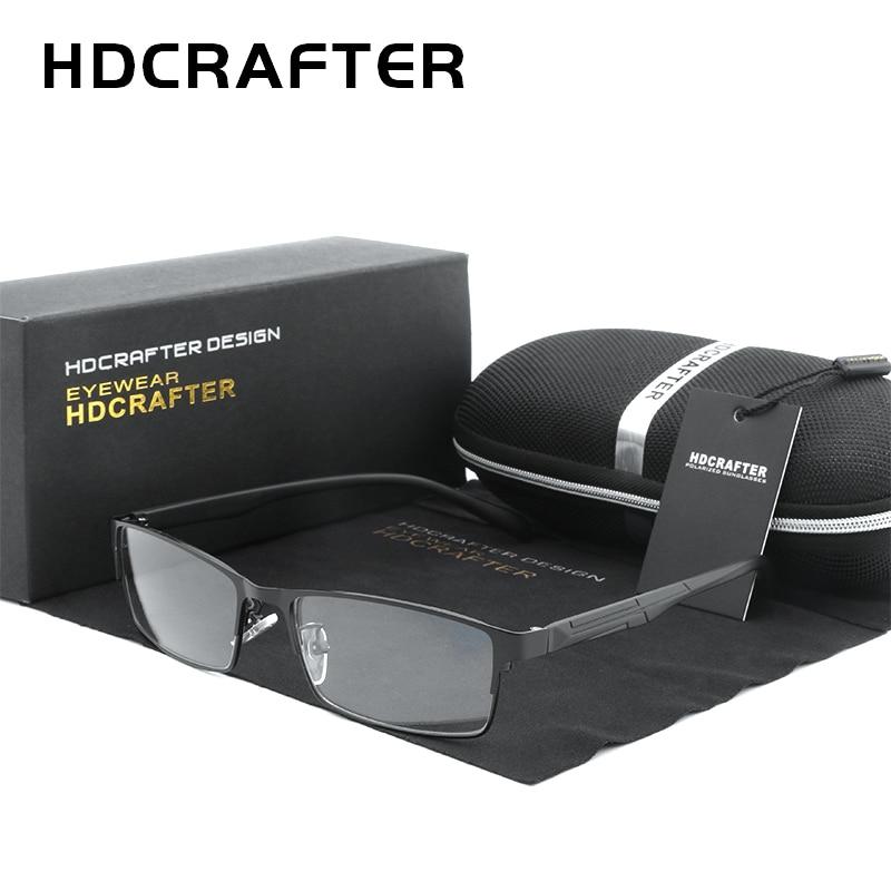 HDCRAFTER Men Eyeglasses Frame Optical Square Glasses Transparent Lens Reading Black Unisex