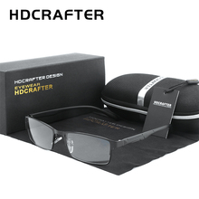 HDCRAFTER Men Eyeglasses Frame Optical Square Glasses Transparent Lens Reading Black Unisex