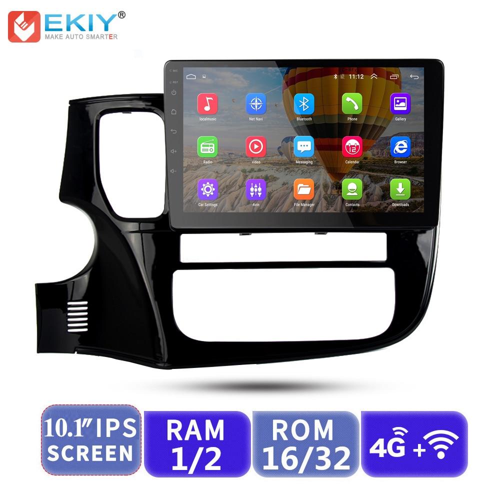EKIY 10.1 ''IPS 2.5D 2 Din Android autoradio multimédia Audio vidéo lecteur 4G GPS Navi DVD pour Mitsubishi Outlander 3 2012-2018