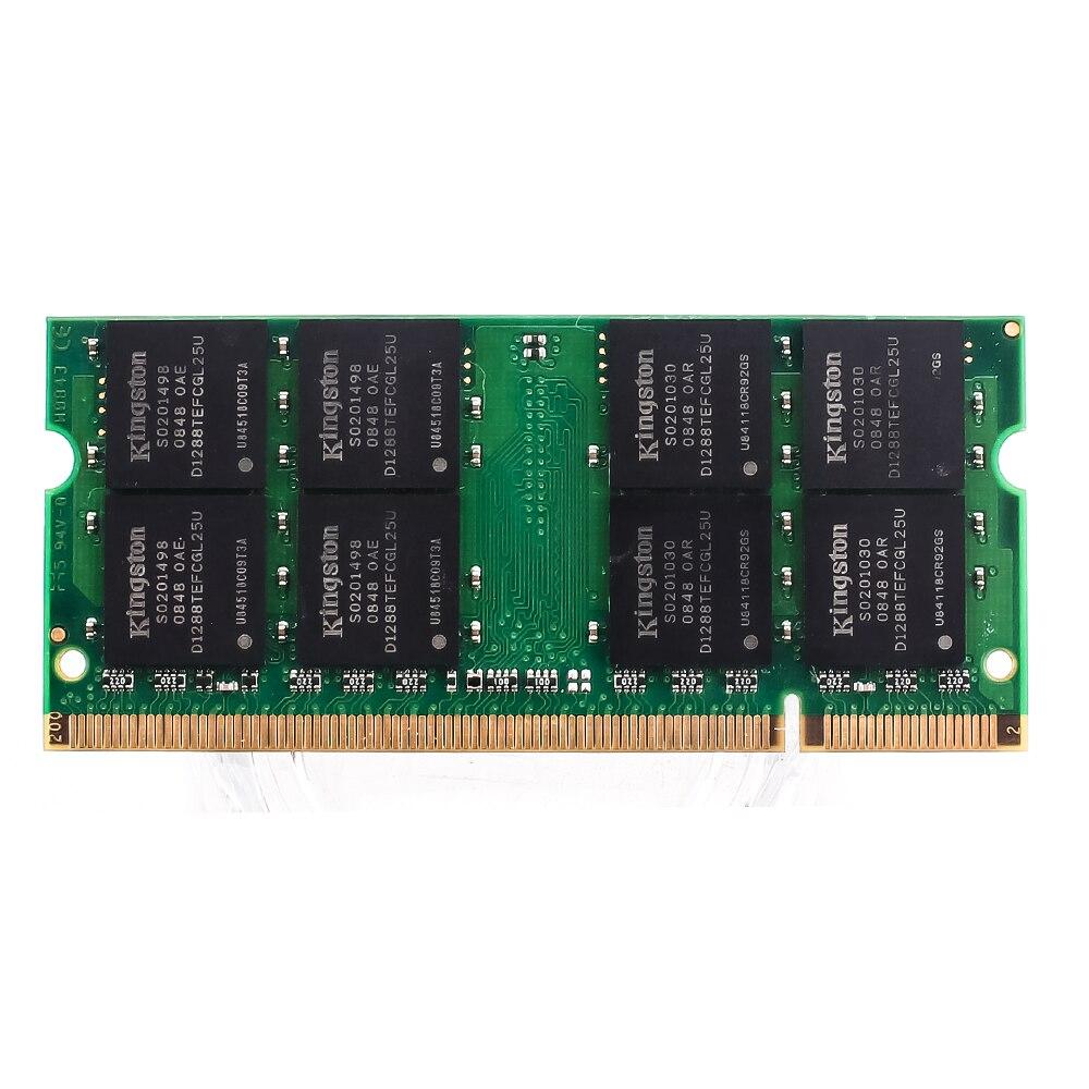Kingston Laptop Memory DDR2 667HMZ DDR2 4GB 2GB laptop RAM ddr2 4GB=2PCS*2G PC2-5300 S MHZ 1.8V