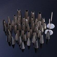 Nuevo 52 unids/set Metal Acero Inoxidable Cortadores Profesionales Decoradores de Pasteles Piping Pasteles de Los Inyectores Consejos para Hornear Herramientas de Cocina