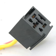5 pcs 12V car Relay Socket Harness with 11AWG and 18AWG gauge wire/ Car relay socket harness 60A 70A 80A