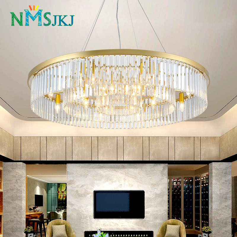 crystal living room round chandelier European creative personality room hall of the simple atmospheric restaurant chandeliercrystal living room round chandelier European creative personality room hall of the simple atmospheric restaurant chandelier