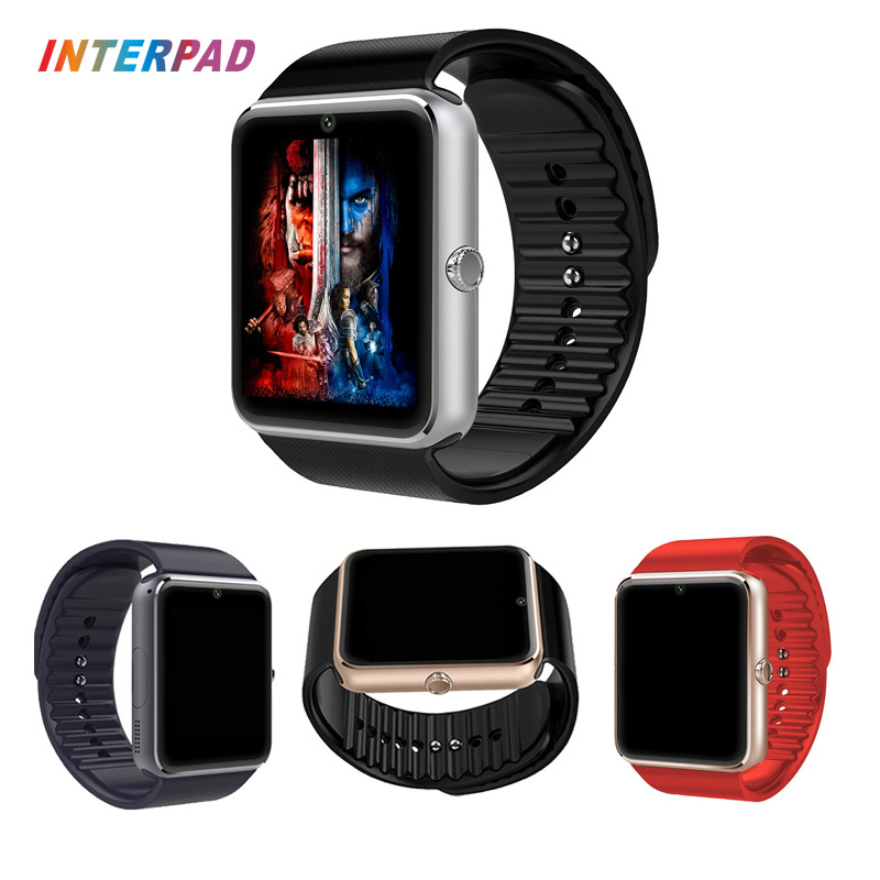 Android Smart Watch GT08 With Camera Bluetooth 4.0 Wristwatch Support Sim TF Card Smartwatch GT08 A1 DZ09